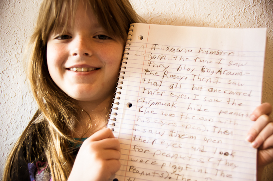 Ken Robinson Videos -- Lily with her creative writing
