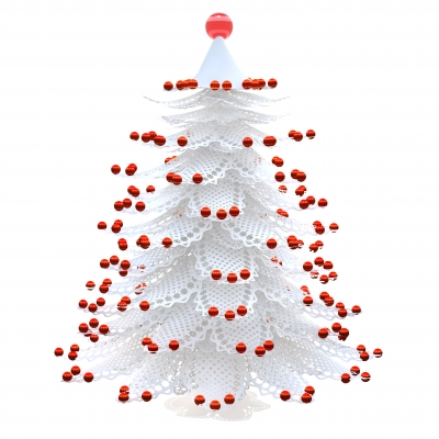Simple Minimalist Christmas Plan - White Christmas Tree